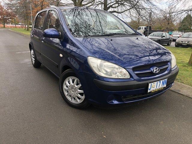 Used Hyundai Getz TB MY06 Launceston, 2005 Hyundai Getz TB MY06 Blue 5 Speed Manual Hatchback