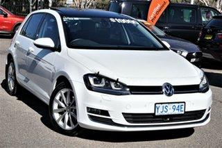 2013 Volkswagen Golf VII 110TDI DSG Highline Pure White 6 Speed Sports Automatic Dual Clutch.
