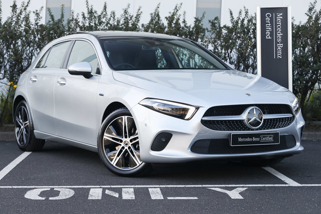 Certified Pre-Owned Mercedes-Benz A-Class A250e DCT Mulgrave, 2020 Mercedes-Benz A-Class A250e DCT Iridium Silver 8 Speed Sports Automatic Dual Clutch Hatchback