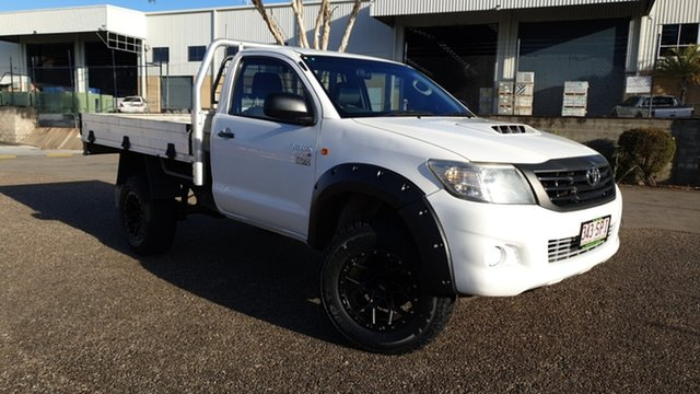 Used Toyota Hilux KUN26R MY12 Workmate (4x4) Underwood, 2012 Toyota Hilux KUN26R MY12 Workmate (4x4) White 5 Speed Manual Cab Chassis