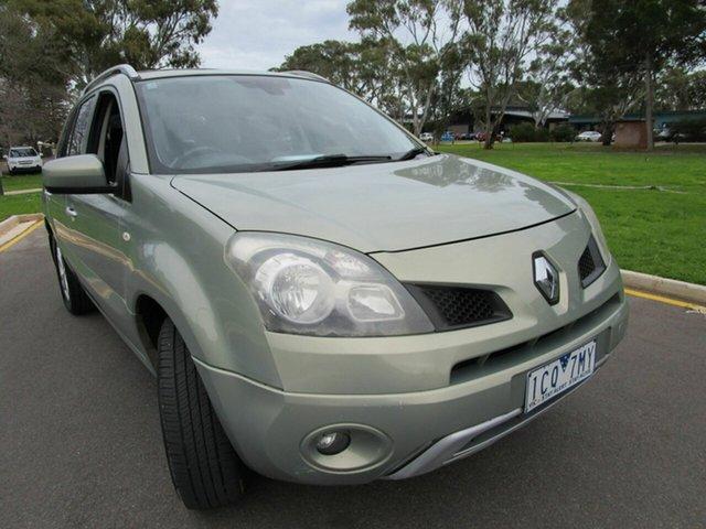 Used Renault Koleos H45 Dynamique (4x2) Glenelg, 2009 Renault Koleos H45 Dynamique (4x2) Green Continuous Variable Wagon