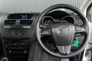2016 Mazda BT-50 UR0YG1 XT Freestyle White 6 Speed Manual Cab Chassis