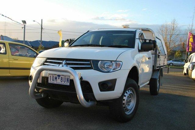 Used Mitsubishi Triton MN MY15 GLX Wendouree, 2014 Mitsubishi Triton MN MY15 GLX White 4 Speed Automatic Cab Chassis