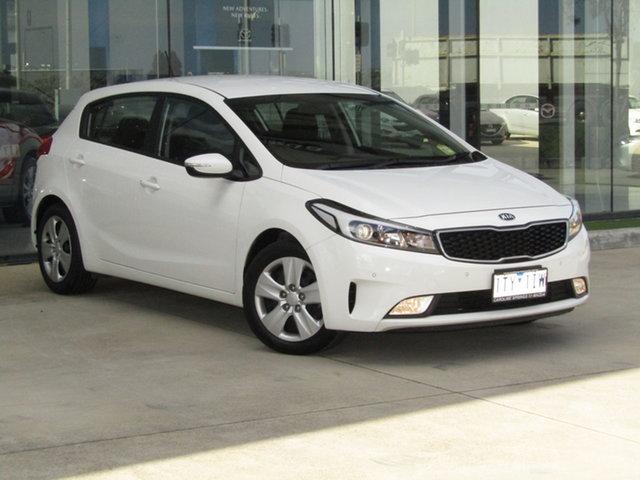 Used Kia Cerato YD MY18 S Ravenhall, 2018 Kia Cerato YD MY18 S White 6 Speed Sports Automatic Hatchback