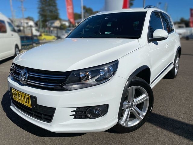 Used Volkswagen Tiguan 5N MY15 155TSI DSG 4MOTION R-Line Cardiff, 2015 Volkswagen Tiguan 5N MY15 155TSI DSG 4MOTION R-Line White 7 Speed Sports Automatic Dual Clutch