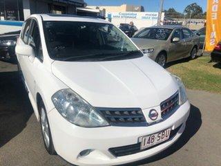 2010 Nissan Tiida TI White Automatic Sedan.