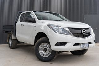 2016 Mazda BT-50 UR0YG1 XT Freestyle White 6 Speed Manual Cab Chassis.