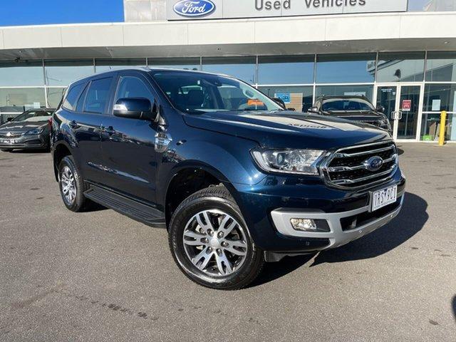Used Ford Everest UA II 2020.75MY Trend Essendon Fields, 2020 Ford Everest UA II 2020.75MY Trend Blue 10 Speed Sports Automatic SUV