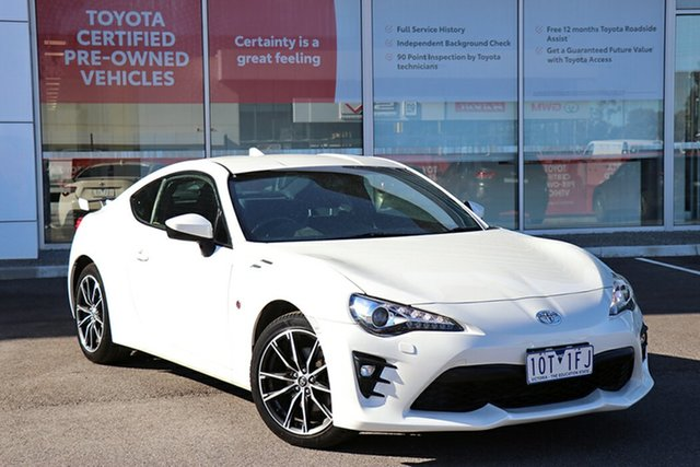 Pre-Owned Toyota 86 ZN6 GTS South Morang, 2017 Toyota 86 ZN6 GTS Pearl White 6 Speed Sports Automatic Coupe