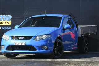 2010 Ford Falcon FG XR6 Super Cab Blue 4 Speed Sports Automatic Cab Chassis.