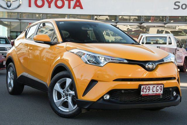 Pre-Owned Toyota C-HR NGX10R S-CVT 2WD Upper Mount Gravatt, 2019 Toyota C-HR NGX10R S-CVT 2WD Hornet Yellow 7 Speed Constant Variable Wagon