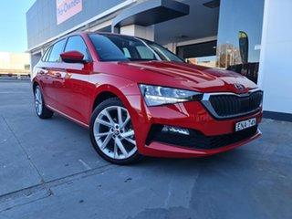 2020 Skoda Scala NW MY21 110TSI DSG Velvet Red 7 Speed Sports Automatic Dual Clutch Hatchback.