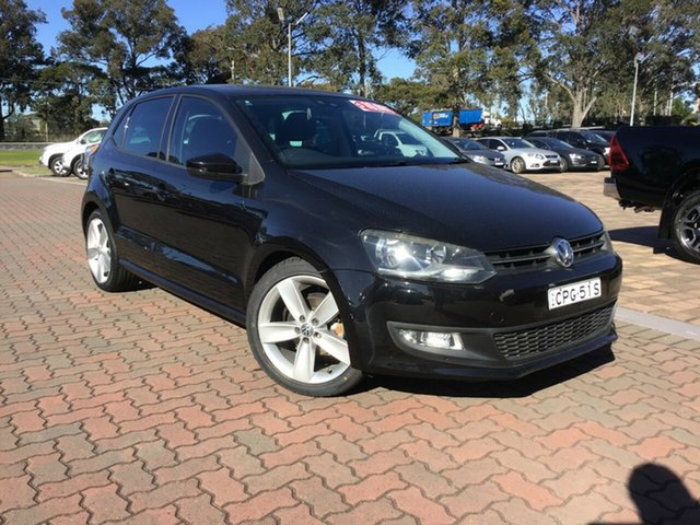 Pre-Owned Volkswagen Polo 6R 77TSI DSG Comfortline Warwick Farm, 2010 Volkswagen Polo 6R 77TSI DSG Comfortline Black 7 Speed Sports Automatic Dual Clutch Hatchback
