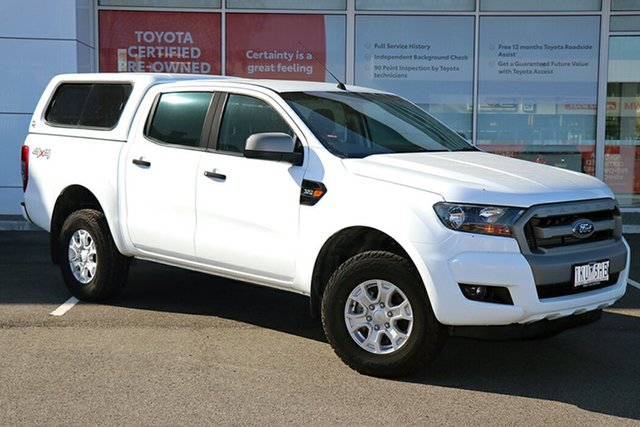 Pre-Owned Ford Ranger PX MkII XLS Double Cab South Morang, 2017 Ford Ranger PX MkII XLS Double Cab White 6 Speed Sports Automatic Utility