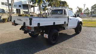 2012 Toyota Hilux KUN26R MY12 Workmate (4x4) White 5 Speed Manual Cab Chassis.