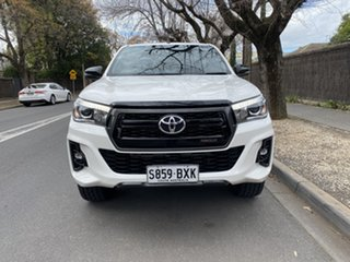 2018 Toyota Hilux GUN126R Rogue Double Cab White 6 Speed Sports Automatic Utility