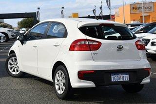 2016 Kia Rio UB MY16 S White 6 Speed Manual Hatchback.