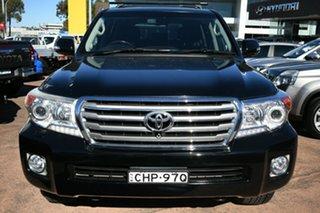 2012 Toyota Landcruiser VDJ200R 09 Upgrade Sahara (4x4) Black 6 Speed Automatic Wagon