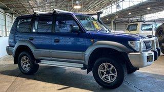 2001 Toyota Landcruiser Prado KZJ95R GXL Blue 4 Speed Automatic Wagon.