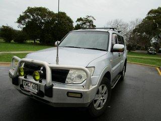 2006 Mitsubishi Pajero NS GLX LWB (4x4) Silver 5 Speed Auto Sports Mode Wagon.