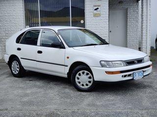 1998 Toyota Corolla AE101R CSi Seca White 4 Speed Automatic Liftback.