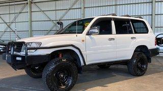 1999 Toyota Landcruiser FZJ105R GXL White 4 Speed Automatic Wagon.