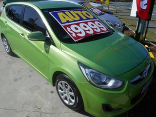 2014 Hyundai Accent RB2 MY15 Active Green 4 Speed Sports Automatic Hatchback.