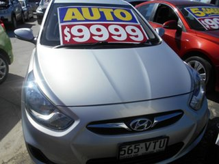 2014 Hyundai Accent RB2 MY15 Active Silver 4 Speed Sports Automatic Hatchback.