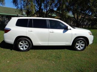 2009 Toyota Kluger GSU45R KX-R AWD White 5 Speed Sports Automatic Wagon.