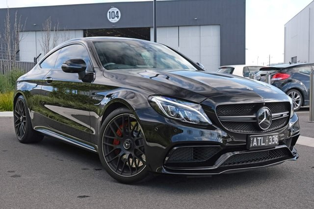 Used Mercedes-Benz C-Class C205 808MY C63 AMG SPEEDSHIFT MCT S Essendon Fields, 2017 Mercedes-Benz C-Class C205 808MY C63 AMG SPEEDSHIFT MCT S Black 7 Speed Sports Automatic Coupe