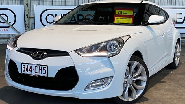 Used Hyundai Veloster FS Coupe Rocklea, 2012 Hyundai Veloster FS Coupe White 6 Speed Manual Hatchback