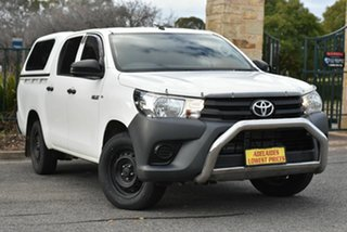 2017 Toyota Hilux GUN122R Workmate Double Cab 4x2 White 5 Speed Manual Utility.