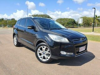 2013 Ford Kuga TF Trend AWD Panther Black 6 Speed Sports Automatic Wagon.