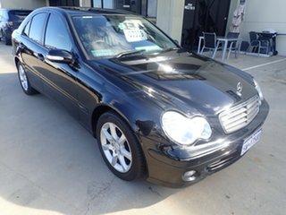 2005 Mercedes-Benz C180 W203 MY06 Kompressor Classic Black 5 Speed Auto Tipshift Sedan.