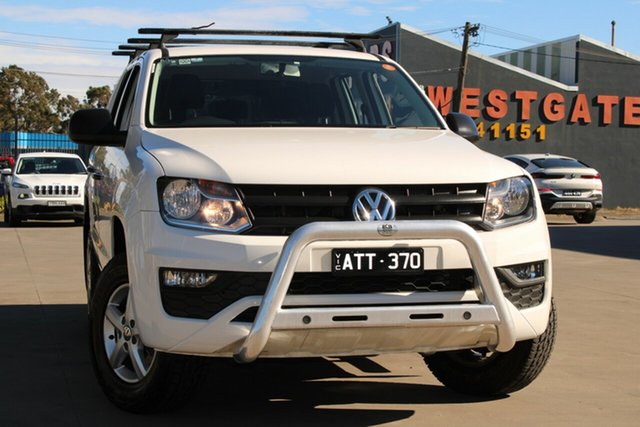 Used Volkswagen Amarok 2H MY17 TDI420 (4x2) West Footscray, 2017 Volkswagen Amarok 2H MY17 TDI420 (4x2) White 8 Speed Automatic Dual Cab Chassis