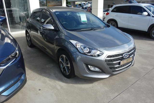 Used Hyundai i30 GD3 Series II MY16 Active X East Maitland, 2015 Hyundai i30 GD3 Series II MY16 Active X Grey 6 Speed Sports Automatic Hatchback