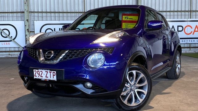 Used Nissan Juke F15 Series 2 ST X-tronic 2WD Rocklea, 2015 Nissan Juke F15 Series 2 ST X-tronic 2WD Blue 1 Speed Constant Variable Hatchback