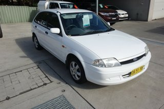 2000 Ford Laser KN LXI White 4 Speed Automatic Hatchback.