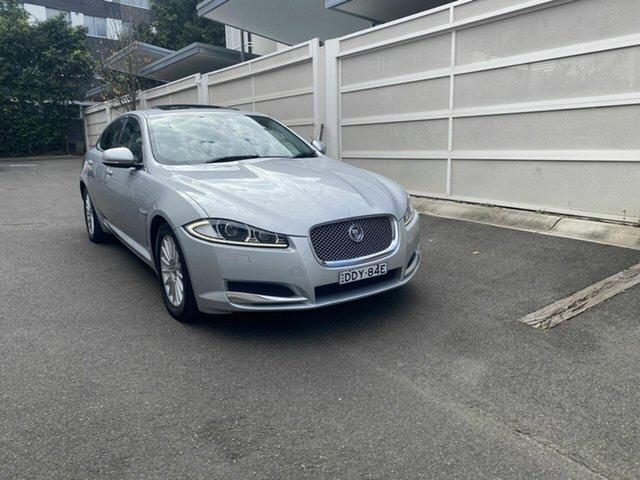 Used Jaguar XF X250 MY12 Luxury Zetland, 2012 Jaguar XF X250 MY12 Luxury Silver 6 Speed Sports Automatic Sedan