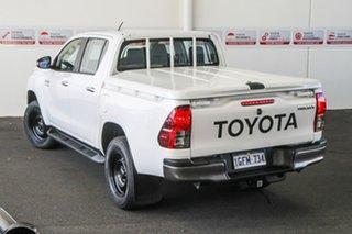 2016 Toyota Hilux GUN136R SR Hi-Rider Glacier White 6 Speed Automatic Dual Cab Utility.