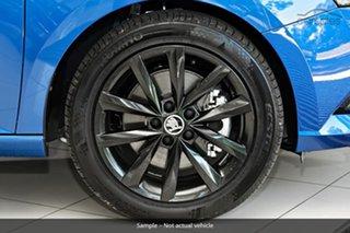 2021 Skoda Fabia NJ MY21 81TSI DSG Run-Out Edition Race Blue 7 Speed Sports Automatic Dual Clutch