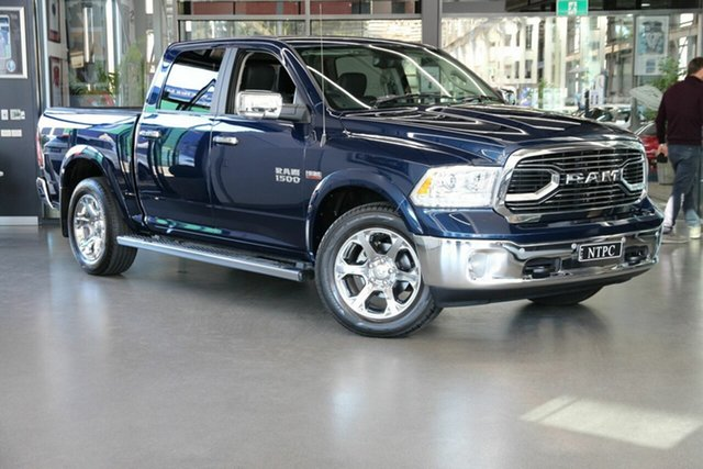 Used Ram 1500 Laramie Crew Cab SWB North Melbourne, 2020 Ram 1500 Laramie Crew Cab SWB Blue 8 Speed Automatic Utility