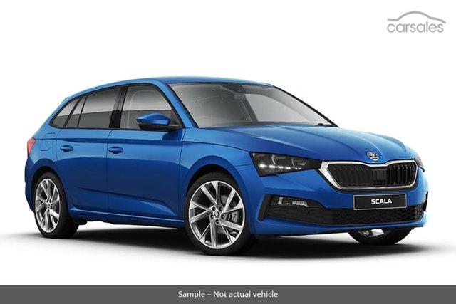 New Skoda Scala NW MY21 110TSI DSG Hamilton, 2020 Skoda Scala NW MY21 110TSI DSG Race Blue 7 Speed Sports Automatic Dual Clutch Hatchback