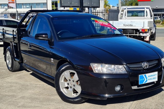 Used Holden Ute VZ S Morayfield, 2005 Holden Ute VZ S Black 6 Speed Manual Utility