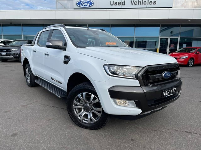 Used Ford Ranger PX MkII 2018.00MY Wildtrak Double Cab Essendon Fields, 2018 Ford Ranger PX MkII 2018.00MY Wildtrak Double Cab White 6 Speed Sports Automatic Utility