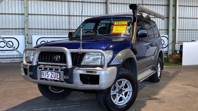 Used Toyota Landcruiser Prado KZJ95R GXL Rocklea, 2001 Toyota Landcruiser Prado KZJ95R GXL Blue 4 Speed Automatic Wagon