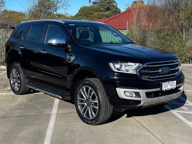 Used Ford Everest UA II 2019.75MY Titanium Berwick, 2019 Ford Everest UA II 2019.75MY Titanium Black 10 Speed Sports Automatic SUV