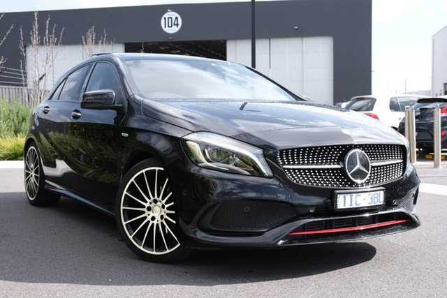 Used Mercedes-Benz A-Class W176 807MY A250 D-CT 4MATIC Sport Essendon Fields, 2016 Mercedes-Benz A-Class W176 807MY A250 D-CT 4MATIC Sport Black 7 Speed