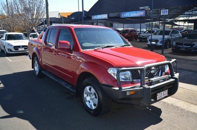 Used Nissan Navara D40 ST (4x4) Toowoomba, 2010 Nissan Navara D40 ST (4x4) Red 5 Speed Automatic Dual Cab Pick-up
