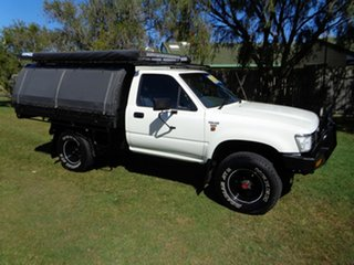 1991 Toyota Hilux LN106R White 5 Speed Manual Cab Chassis.